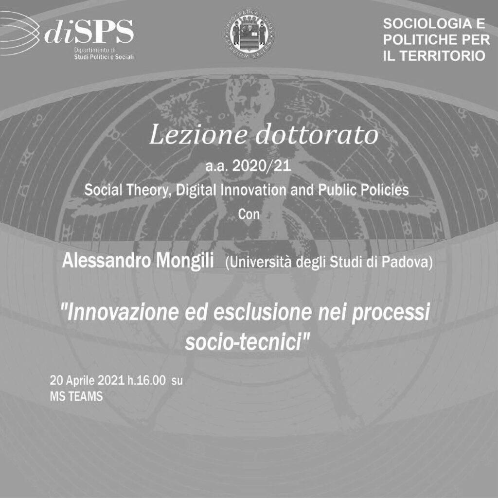 Orfani sociotecnici e Filosofia de logu a Salerno